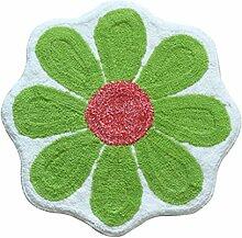 Jack Mall- European Cartoon-Blau Hellgrün Blumen Mats Fußmatte Absorbent Anti-Rutsch Badematte Schlafzimmer Teppich ( farbe : Grün )