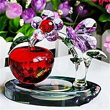 Jack Mall- High-End-Heimtextilien Kristall Schmetterling Dekoration Weihnachtsgeschenk Green Tree Geschenk zu schicken Mädchen ( farbe : Rot )