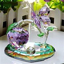 Jack Mall- High-End-Heimtextilien Kristall Schmetterling Weihnachtsgeschenk Green Tree Geschenk zu schicken Mädchen ( Farbe : Lila )