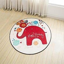 Jack Mall- Kann gewaschen werden Cartoon Muster Runde Mats Kinderzimmer Hocker Computer Stuhl Bedside Pad Hanging Basket Yoga Mat ( Farbe : Diameter 160cm )