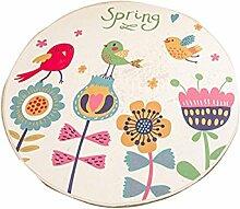 Jack Mall- Kann gewaschen werden Cartoon Pattern Round Mats Kinderzimmer Round Hocker Bedside Pad Korb Yoga Matten ( größe : Diameter 200cm )