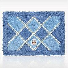 Jack Mall- Mats Fußmatte Vorraum Bad Toilette WC Fußmatte absorbierende Matte Badematte Teppich ( farbe : Blau )