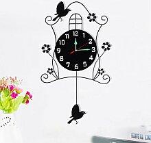 Jack Mall- Moderno reloj de mesa luminosa creativa pastoral minimalista oscilación colgante Muda Europea ( design : Sencillo )