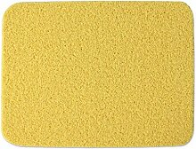 Jack Mall- Startseite Draht Gehäuse Pad PVC Anti-Rutsch Badematte Impermeable Grün Blau Teppich Eingang Mats Fußmatte ( farbe : Gelb , größe : 45*58cm )