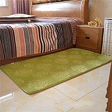 Jack Mall- Verdickte Villi Raum Schlafzimmer Nachtdecke Gepflasterte Couch Couch-Kissen-Fenster Und Mats ( farbe : Grün , größe : M )
