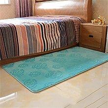 Jack Mall- Verdickte Villi Raum Schlafzimmer Nachtdecke Gepflasterte Couch Couch-Kissen-Fenster Und Mats ( farbe : Blau , größe : L )