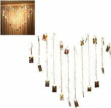 Jackallo Herz Vorhang LED String Lichterkette 1.