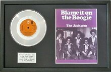 jacksons- Platinum Disc & Song Tafeltuch Blame it on the