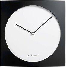 Jacob Jensen - Wanduhr, Uhr - Farbe: Schwarz/Weiß