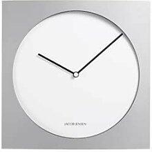 Jacob Jensen - Wanduhr, Uhr - Farbe: Silber/Weiß
