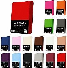 Jacobson Jersey Spannbettlaken Spannbetttuch für