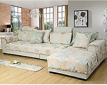 Jacquard surefit sofa hussen baumwolle,Sofa deckt schnitt,Sofa schutzabdeckung werfen anti slip luxury couch abdeckungen für wohnzimmer-beige 120x200cm(47x79inch)
