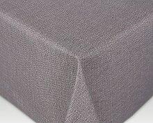 Jacquard Tischdecke Acryl Teflon beschichtet abwischbar, Linado Taupe, RUND OVAL ECKIG, Größe wählbar (eckig 110 x 160 cm)