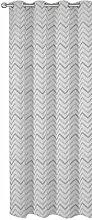 Jacquard Übergardine ZickZack Muster 140x245 cm