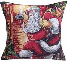 Jacquard Weihnachten Kissenbezug XMAS Kissenhülle (ohne Kissen) 45*45cm Lampe