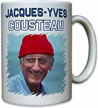 Jacques Yves Cousteau Pionier Franzose Frankreich Meeresforscher Forscher Taucher Foto Portrait - Tasse Kaffee Becher #12946