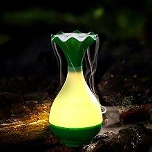 Jade Aromatherapie Mini-Usb-Luftbefeuchter Flasche Stillen Haushalt Spray Feuchtigkeitsspendende Nachtlicht Reinigung Der Luft, Grün, 9,8* 9,8* 20,3 Cm