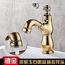 Jade Gold Pull Shampoo Waschbecken Mischbatterie