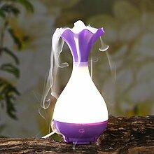 Jade Reine Aroma Luftbefeuchter USB-Luftbefeuchter Aromaölen Anti-trocken Ohne Wasser,Purple-AllCode