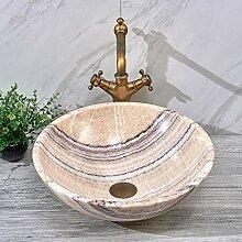 Jade Waschbecken Marmor Arbeitsplatte Waschbecken