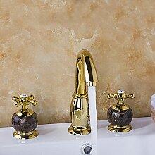 Jade Waschbecken Mischer Vergoldet Bad Wasserhahn