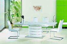Jadella Essgruppe Tisch + 6 Stühle Hochglanz