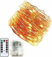 Jadelotus Neueste Lichterkette 15m warmweiß