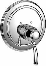 Jado RETRO Dusch-Armatur Unterputz mit Wassertemperaturkontrolle und ECO-Stopp, Edelmessing