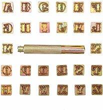 Jadpes Metallstempel Letter Punch, 13mm
