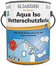 Jaeger Aqua ISO Wetterschutzfarbe für Holz, 3in1