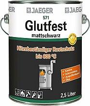 Jaeger Glutfest Hitzelack mattschwarz, 125 ml