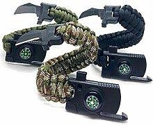 Jägerfeuer - 3er Set - Survival Paracord Armband