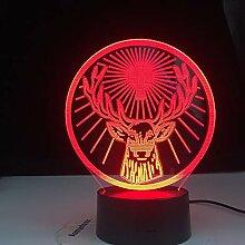 Jägermeister Geschenk Nachtlicht Lampe, 3D LED