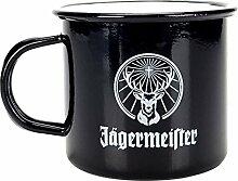 Jägermeister Krug Glas Metall Becher schwarz