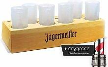 Jägermeister Likör Glas Tablett inkl. Gläser
