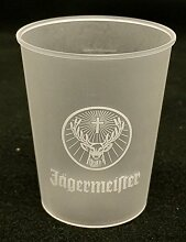 Jägermeister Schnapsgläser aus Kunststoff Glas
