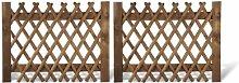 Jägerzaun Doppeltor /Gartentor für Jägerzäune zweiflügelig Holzzaun im Maß 300 x 120 cm (Breite x Höhe) aus Kiefer/Fichte Holz mit brauner Druckimprägnierung