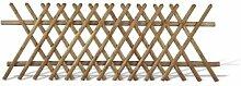 Jägerzaun / Jägerzäune Gartenzaun im Maß 250 x 100 cm (Breite x Höhe) aus Kiefer/Fichte Holz mit brauner Druckimprägnierung