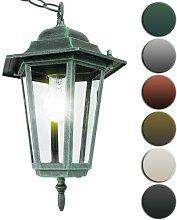 Jago Antike Außenleuchte Deckenlampe Gartenbeleuchtung Laterne inkl. Kette mit ca. 74 cm hoch aus Aluminium E27, 60W - Farbwahl