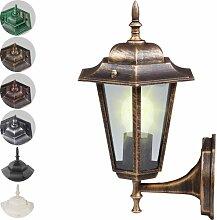 Jago Außenleuchte Lampe Laterne E27, max. 60W mit Glaseinsatz im Antik-Look (höhe ca. 36cm - Spannung 110V-240V) mit Farbwahl