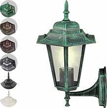 Jago Außenleuchte Lampe Laterne E27, max. 60W mit Glaseinsatz im Antik-Look ( höhe ca. 36cm - Spannung 110V-240V ) mit Farbwahl