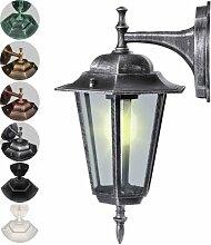 Jago Kandelaber Aussenleuchte Latenre lampe Leuchte E27 max. 60W, 36x20 cm im Antik-look Gartenlampe ( HxB: 36 cm x 20cm) mit Farbwahl