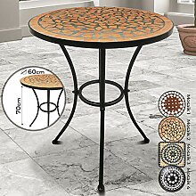 Jago Mosaiktisch - rund oder eckig, Stahl, Ø60 -