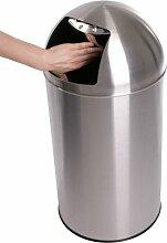 Jago® Push Mülleimer - mit Deckel, 50L Volumen,