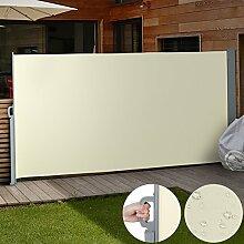 Jago Seitenmarkise Sonnenschutz Sichtschutz Windschutz - diverse Farben und Größen (beige / 180x300cm / SMKS01-180BG)