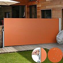 Jago Seitenmarkise Sonnenschutz Sichtschutz Windschutz - diverse Farben und Größen (terrakotta / 160x300cm/ SMKS01-160TRT)
