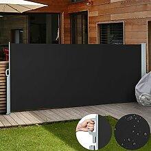Jago Seitenmarkise Sonnenschutz Sichtschutz Windschutz - diverse Farben und Größen (schwarz / 160x300cm/ SMKS01-160SW)
