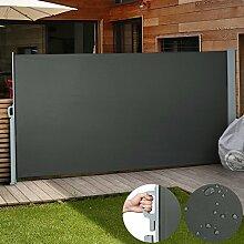 Jago Seitenmarkise zum Schutz, 180 x 300 cm, anthrazi