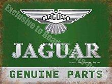 Jaguar Original Teile, 185Vintage Garage Auto Werbung aus Metall/Stahl Wandschild, stahl, 40 x 30 cm