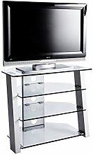 Jahnke TV-Möbel, Glas, metallfarbig, 80 x 45 x 65